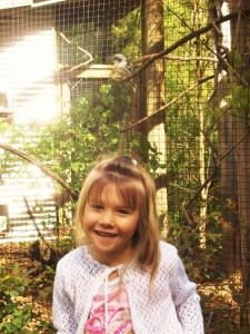 mini moo, posing with the kookaburra at the atlanta zoo, many moons ago