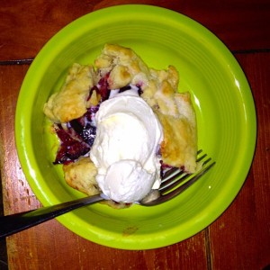plum & blackberry galette a la mode