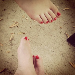 i wished my mother's red toes were there, too