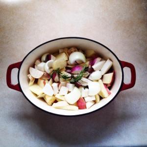 roast n' taters n' turnips n' stuff