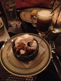 bread pudding something with jameson something and whatever the fuck they call keoke coffee now
