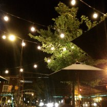 i insisted on dining al fresco with the twinkly lights