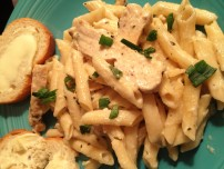 penne in white sauce with chicken